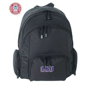 Mercury Luggage LSU Tigers Large Black Ripstop Backpack