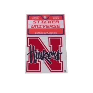 Nebraska Cornhuskers Sticker N Husker