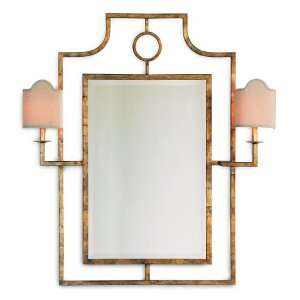 Doheny Hollywood Regency Bamboo Gold Leaf Mirror With