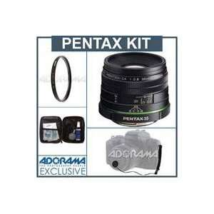 Pentax SMCP DA 35mm f/2.8 Macro Limited Wide Angle Auto Focus Lens Kit