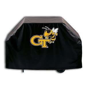 Georgia Tech Yellow Jackets Logo Grill Cover on Black