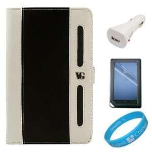 Black White Executive Portfolio Leather Carrying Case Cover Barnes