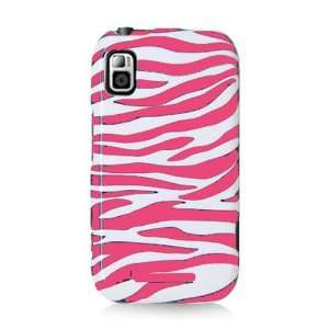 MB508 PINK WHITE ZEBRA STRIPE PATTERN CASE Cell Phones & Accessories