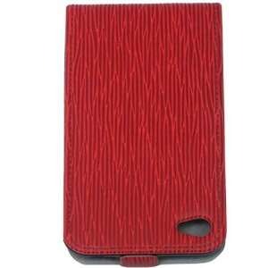 Malcom Distributors Red Pattern Flip Phone Case for Apple