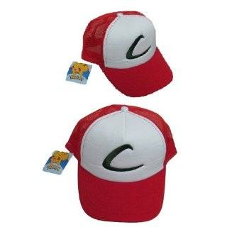Pokemon trainer hat Ash Ketchum Original series costume Cap Adult size