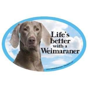 Weimaraner Oval Dog Magnet for Cars