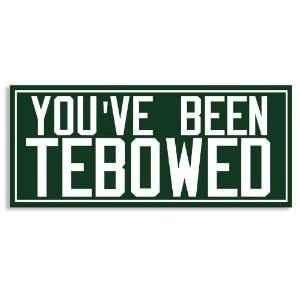 Youve Been Tebowed   New York Jets Green   Bumper Sticker