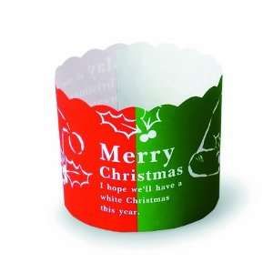 Welcome Home Brands Merry Christmas Baking Cups, 2.6 Inch Diameter by