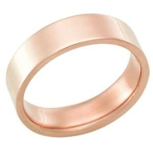18Kt Rose Gold Wedding Band Ring in 6.0 Millimeters on Sale, Comfort