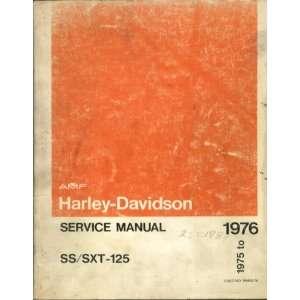 Harley Davidson SS/SXT 125 1975 to 1976 AMF Service Manual
