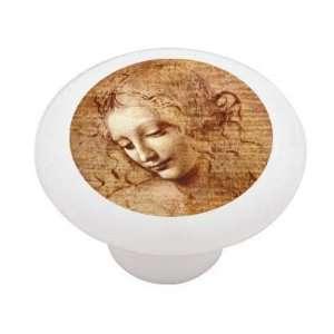 Female Head Study by Da Vinci Decorative High Gloss Ceramic Drawer