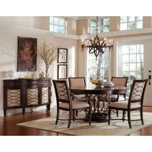 Intrigue Wood Top Dining Room Set Home & Kitchen
