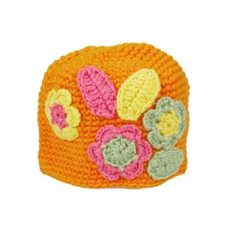 Lovely Infant Cotton Crochet Toddler Cap Cute Baby Photography Flower