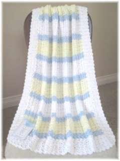 Soft Yellow, White, Baby Blue w/White border & Yellow edge
