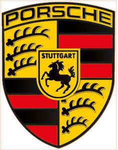 Porsche Logo Sports Luxury Car Vinyl Decal Sticker Laminated   9.5 x
