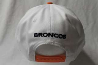 BRONCOS NFL NEW ERA 9FIFTY STRUCTURED SNAPBACK HAT CAP WHITE TOP P6