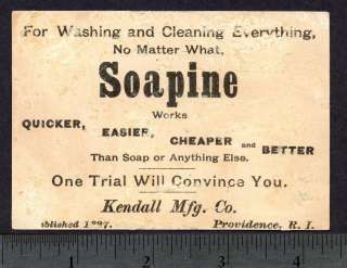 Soapine Soap Raven Victorian TRADE CARD/ Black to White