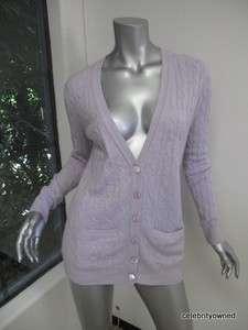 Autumn Cashmere Lilac Button Down Cardigan M