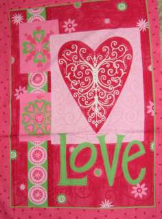 VALENTINES LOVE IS IN THE AIR~ Cotton Fabric Panel