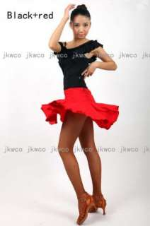 dance dress top + skirt set salsa tango chacha dance costume