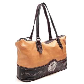 New Western Style Rhinestone Flower Shopper Shoulder Bag Tote Hobo