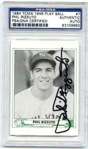 Autographed Signed 1984 TCMA 46 Play Ball Card PSA/DNA Slabbed CFS