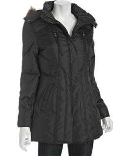 Marc New York black faux fur hood down coat