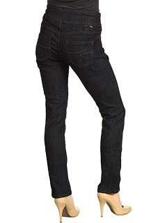 Jag Jeans Petite Petite Peri Pull On Straight in Black Rinse