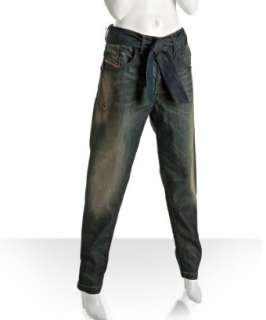 Diesel faded vintage stretch belted Nyoka boyfriend tapered leg