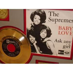 SUPREMES GOLD RECORD LIMITED EDITION DISPLAY Everything