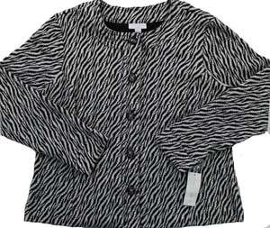 NEW CHARTER CLUB WOMENS PLUS SIZE BLACK/WHITE COAT SZ 1X $75