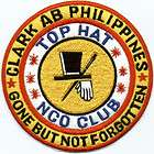 CLARK AIR BASE PHILIPPINES TOP HAT NCO CLUB PATCH