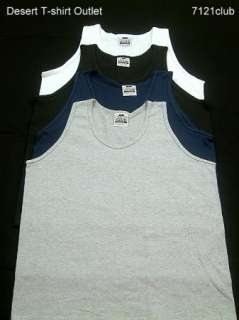 New PROCLUB mens Heavy Weight Plain Tank Top PRO CLUB blank M   BIG