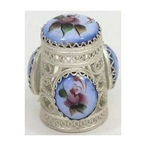 Russian Thimble Filigree/Hand Painted Enamel (1228
