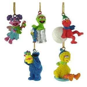Set of 5 Sesame Street Mini Characters Christmas Ornaments