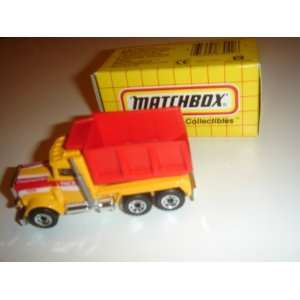 1994 Matchbox Peterbilt Dump Truck Yellow/Red MB30 Boxed
