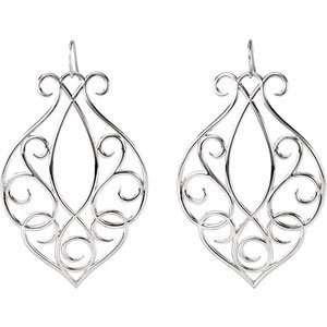 Genuine IceCarats Designer Jewelry Gift 14K White Gold Precious Metal