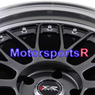18 XXR 521 Chromium Black Polished Lip Rims Staggered 03 04 06 07 08