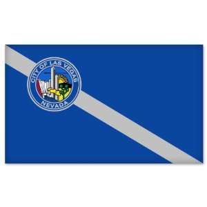 Las Vegas City Flag car bumper sticker window decal 5 x 3
