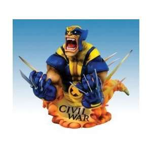 Marvel Universe Civil War Wolverine Bust Toys & Games