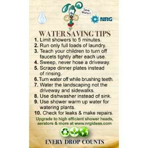 , Green Materials   Water Saving Top 10 Tips Magnet