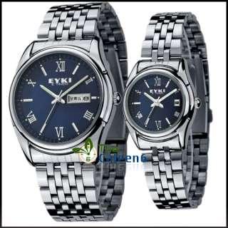 2PCS Pair Couple Leather Fashion Quartz Wrist Watch 4 Colors 8826