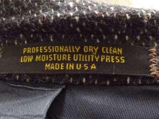 blazer sportcoat Evan Picone dark navy blue M 41R 41 R speckled