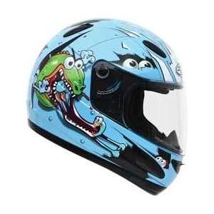 GMAX GM39Y Youth Full Face Street Helmet Lizard Blue Large   72 5022YL