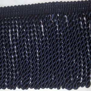 Conso 6 inch Midnight Blue Knitted Bullion Fringe Trim 4