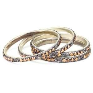 Chamak by priya kakkar 4 Grey Crystal Bangle Bracelet with