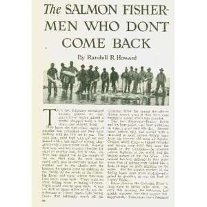 1914 Salmon Fishing Columbia River Astoria Oregon