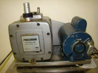 Precision D150 Vacuum Pump 5.3 CFM 0.1 Micron