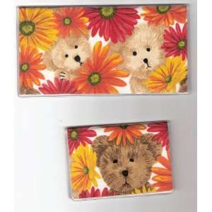 Checkbook Cover Debit Set Boyds Bears Bright Flower