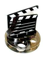 Hollywood Studio Clapboard & Reel Centerpiecec   6057